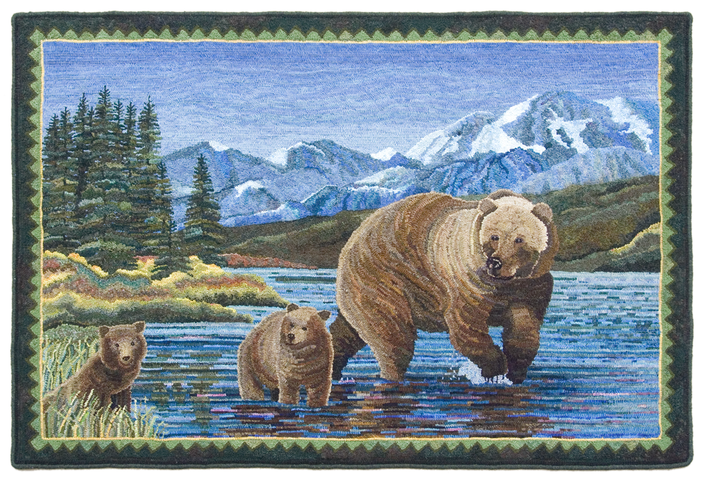 Mama Bear and Cubs ©2015 Rochelle Stibb