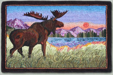 Majestic Moose ©2011 Rochelle Stibb (Pattern Available)